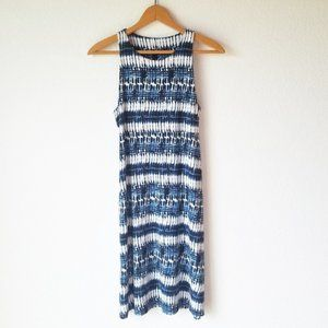 Athleta Blue High Neck Santorini Tie Dye Dress - S